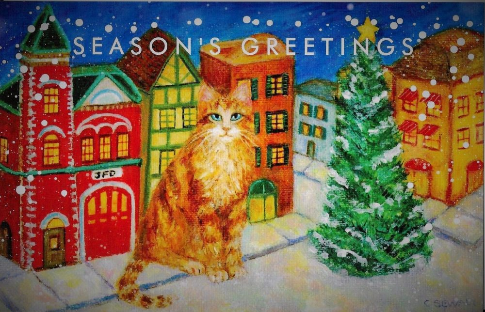 Cat Holiday Card Firehouse 2nd try